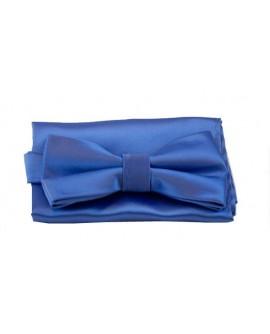 Noeud Papillon Bleu + pochette