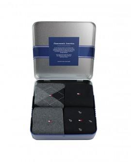 Chaussettes gris/noir ( lot de 4 paires ) Tommy Hilfiger