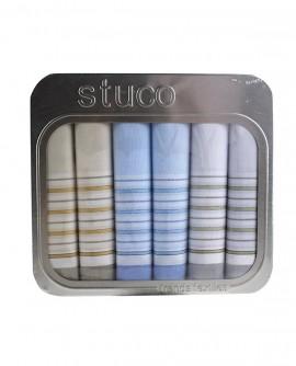 Coffret de mouchoirs homme 6 paquet bleu