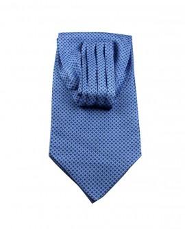 Ascot en soin bleu à motif