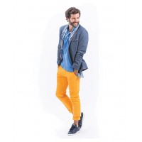 Pantalon Chino Stretch Homme coupe fit