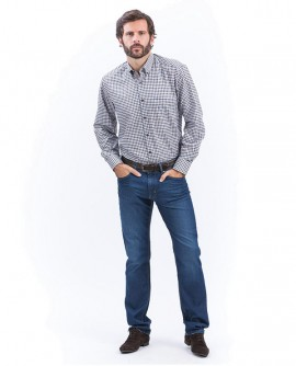 Jeans COOLMAX  5 poches Bleu Moyen Bruno SAINT HILAIRE