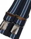 Bretelle homme  4 pinces bleu marine rayées