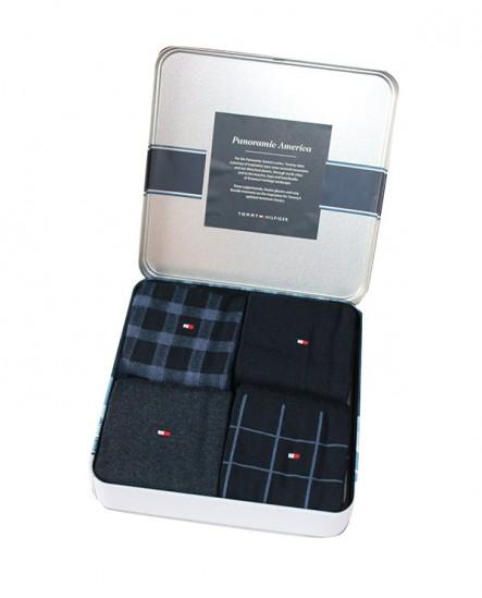 Chaussettes bleu ( lot de 4 paires ) Tommy Hilfiger
