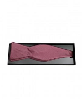 Noeud de papillon à nouer en soie rose