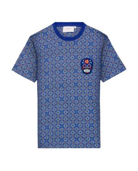 T-shirt Eddie Fantasie Bleu VICOMTE A